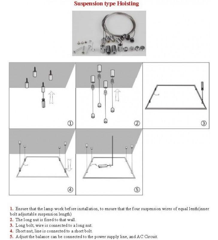 Kit per pannelli a sospensione