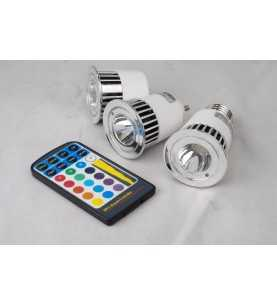 Faretto GU10 RGB 5W 68° con telecomando