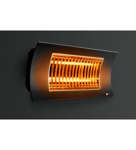 Oasi nera opaca Lampada Riscaldante di Design