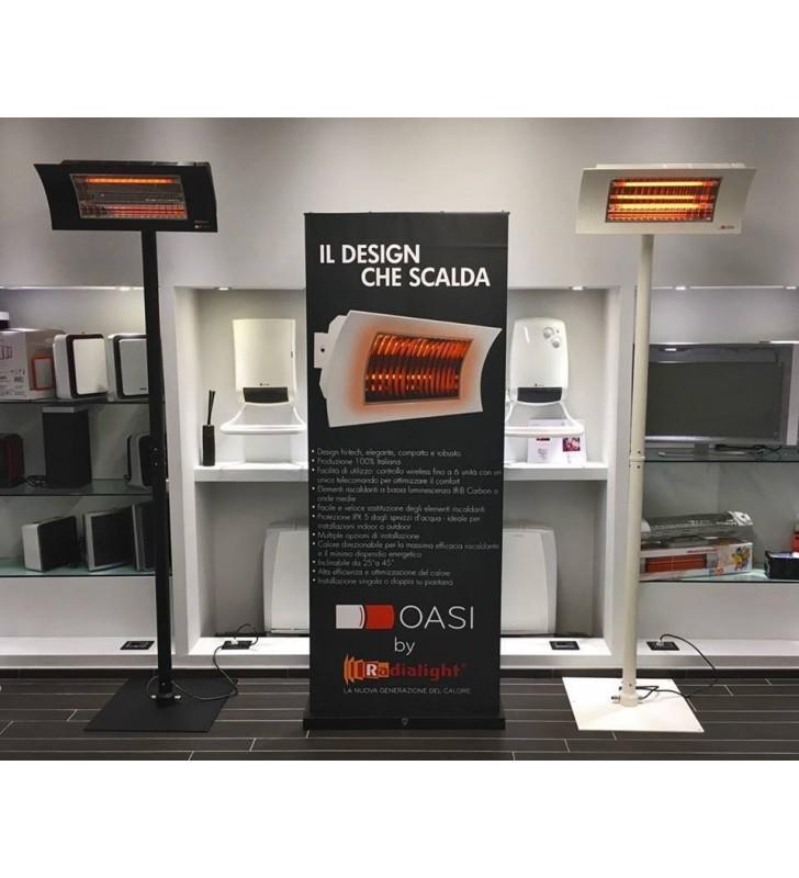 Black matte Oasi of Design Warming Lamp