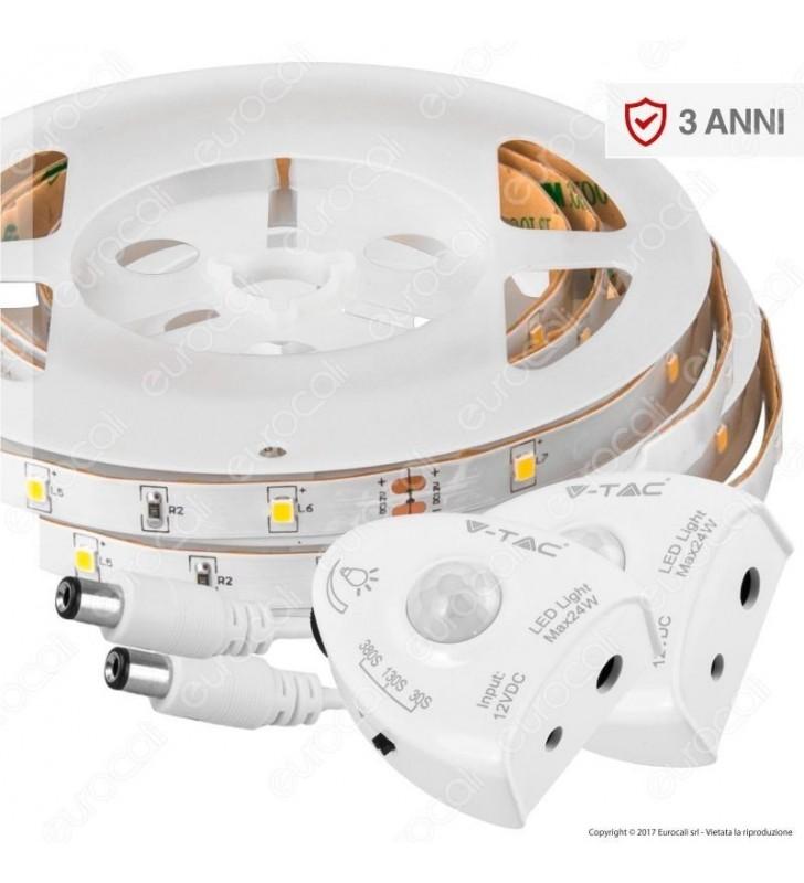 Luce letto LED e sensore doppio Bianco caldo