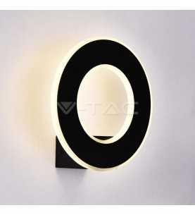 Wall lamp Design circular black 9W WW