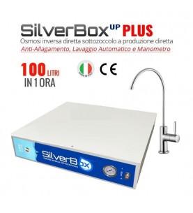 Depuratore Osmosi Sottozoccolo a Produzione Diretta 100 L/H Silverbox Up Plus